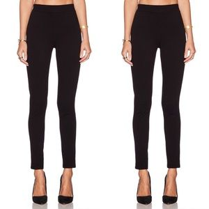 Theory   Leather Hasna Rave Ponte leggings 0T